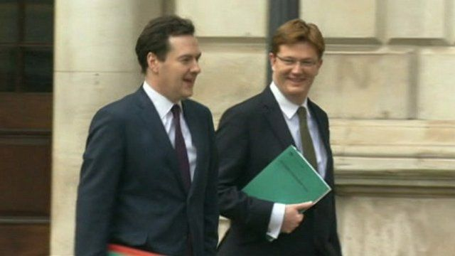 Chancellor George Osborne with Chief Secretary to the Treasury Danny Alexander