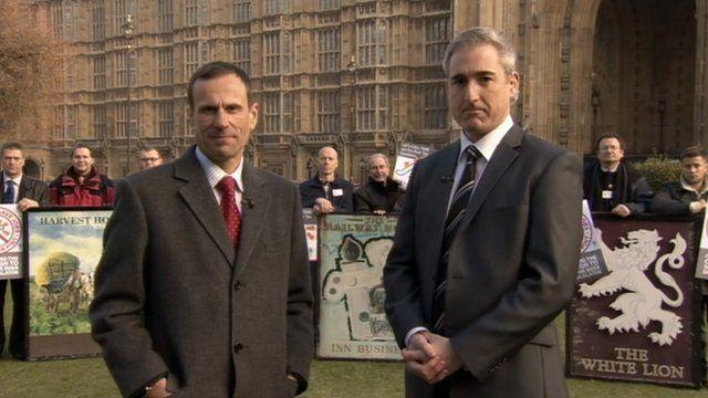 Mike Benner and Lib Dem MP Greg Mulholland
