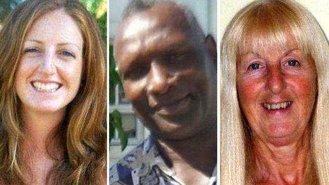 Dr Rachel Turner, Derick Crawford and Diane Davies