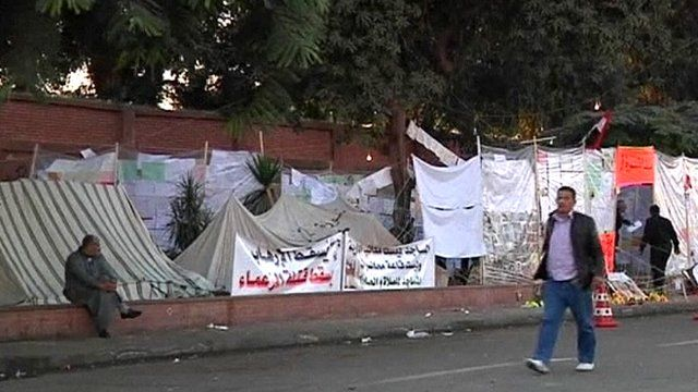 Protest camp in Cairo, Egypt