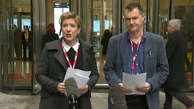 Newsnight's Liz MacKean and Meirion Jones