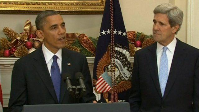 US President Barack Obama and John Kerry