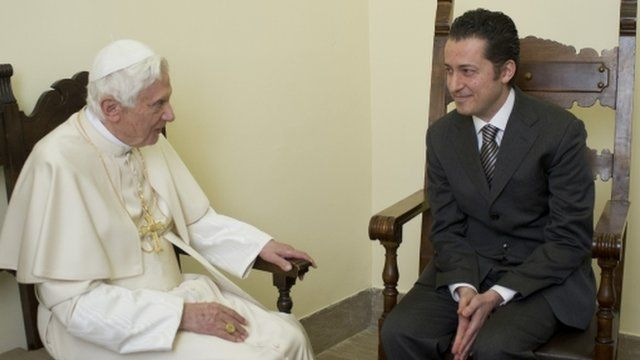 Pope Benedict XVI with Paolo Gabriele