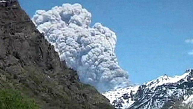 Copahue volcano, Chile