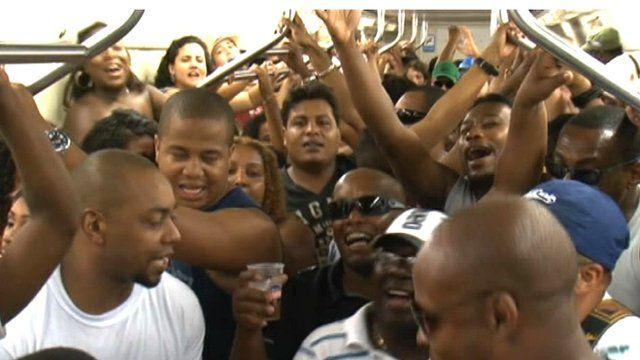 Samba train in Brazil