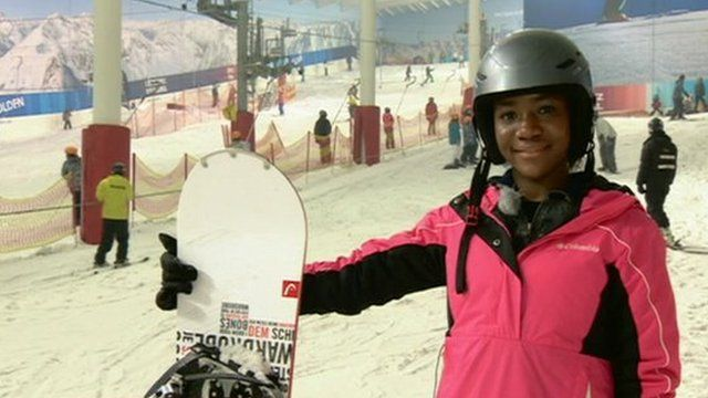Young skier