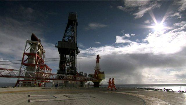 Workers on a rig