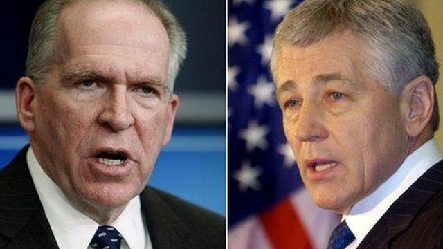 John Brennan and Chuck Hagel