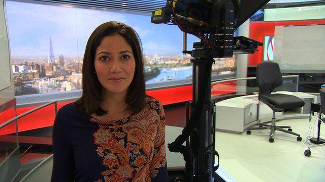 BBC World News presenter Mishal Husain