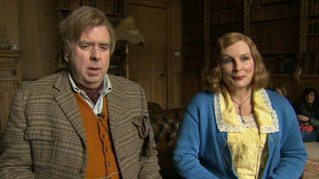 Timothy Spall and Jennifer Saunders