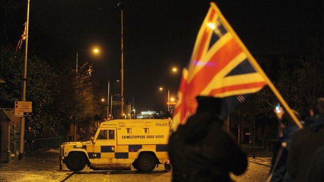 Scene of police operation in east Belfast