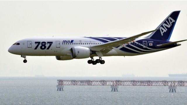 File photo of an All Nippon Airways (ANA) Boeing 787 Dreamliner at Tokyo's Haneda airport
