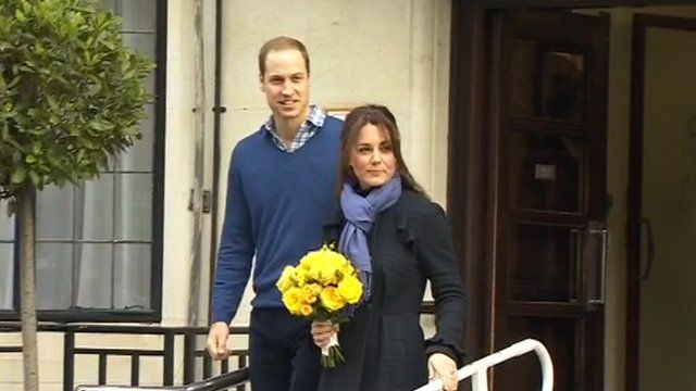 Kate Middleton leaves hospital following a period of acute morning sickness in December