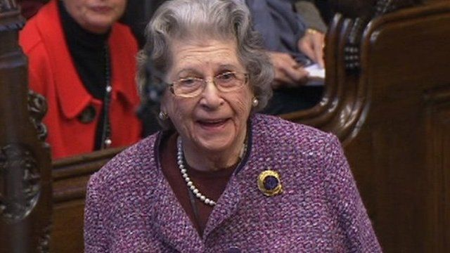 Baroness Trumpington in the House of Lords