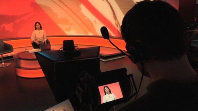 Mishal Husain in studio