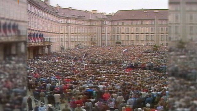 The Velvet revolution in Prague