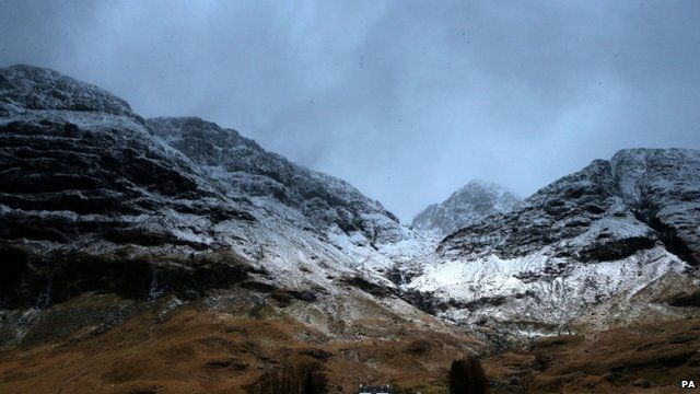 The mountain range at Glencoe towards Bidean Nam Bian