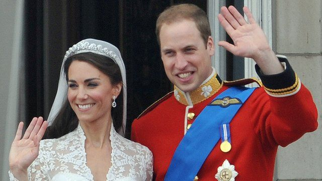 The Duke and Duchess of Cambridge at their wedding in 2011