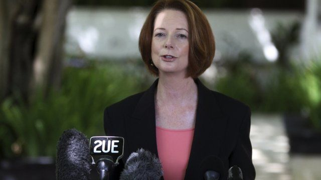 The prime minister of Australia Julia Gillard