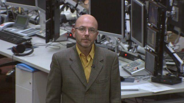 Wayne Hemingway in BBC newsroom