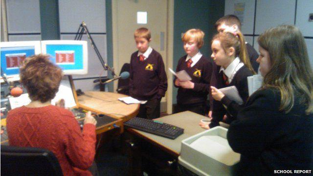 Hameldon students at BBC Radio Lancashire