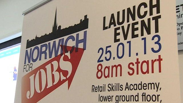 Norwich for Jobs poster