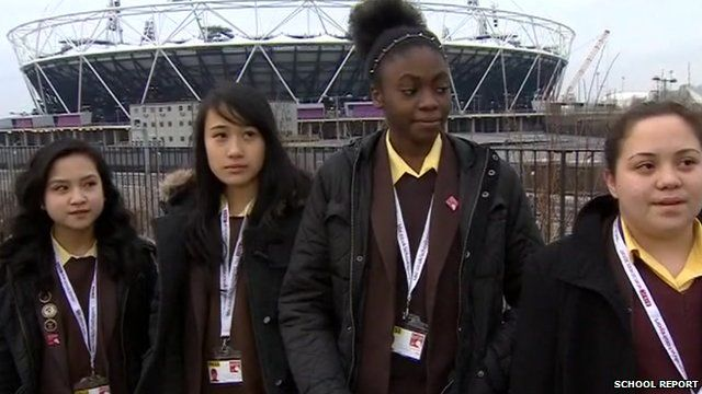 School Reporters from St Angela's Ursuline School live on the BBC News Channel
