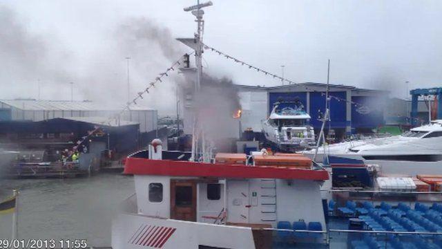 Fire at Sunseeker factory