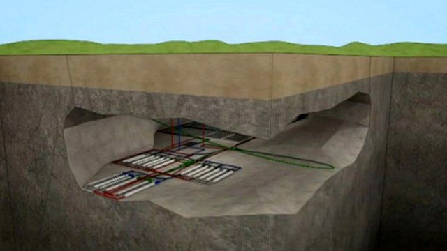 Graphic of proposed nuclear waste store
