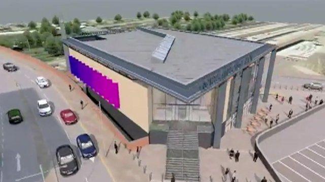 Artist's impression of new Northampton station