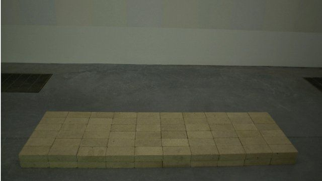 "Carl Andre's sculpture ""Equivalent VIII"""