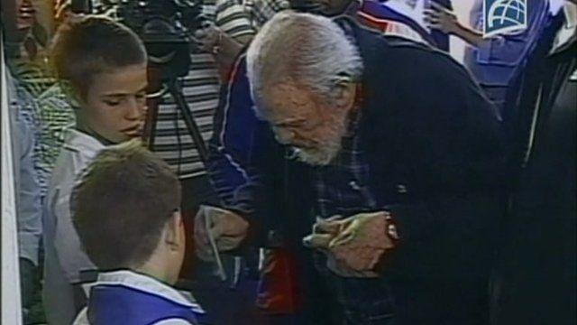 Fidel Castro voting