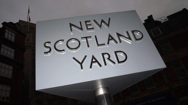 A sign outside New Scotland Yard