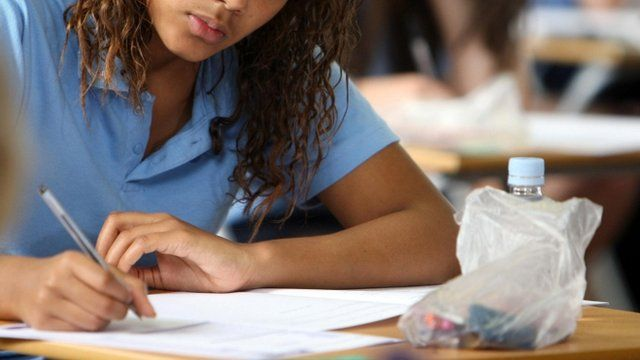Pupil sits exam