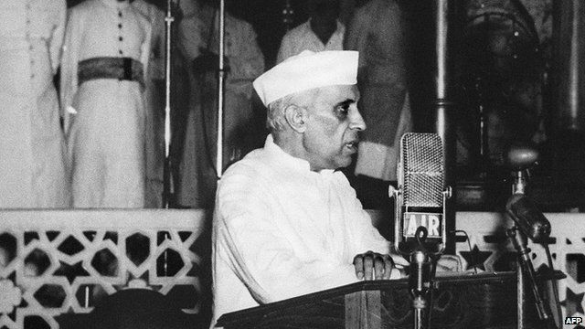Jawaharlal Nehru on the eve of Indian independence, 1947