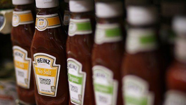 Bottles of Heinz ketchup