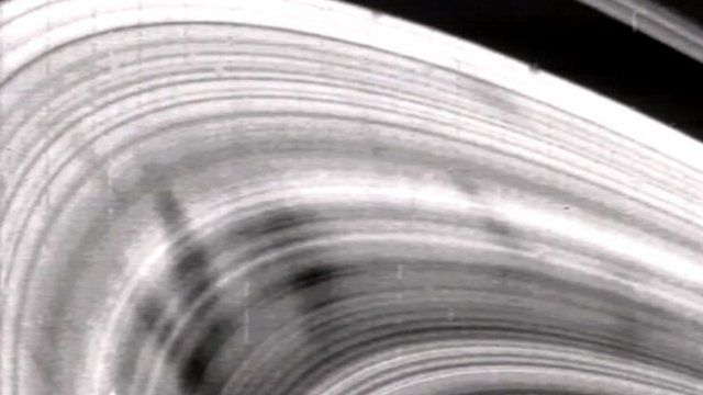 Images taken by Voyager 2 of Saturn's ring