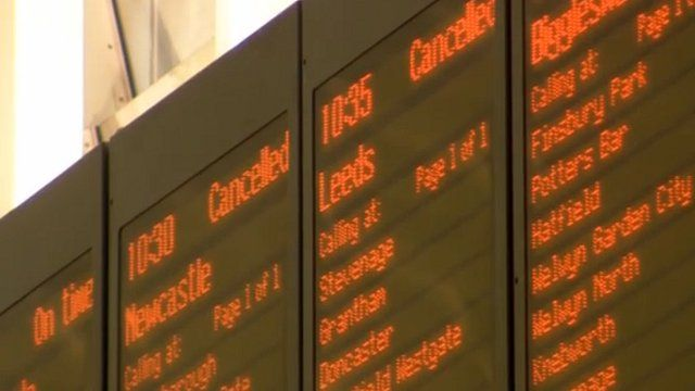 East Coast trains disrupted