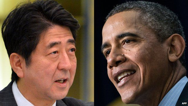 Shinzo Abe and Barack Obama