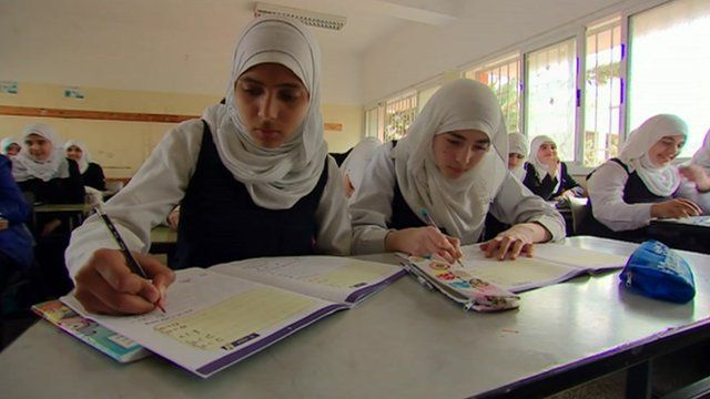 School children from Gaza