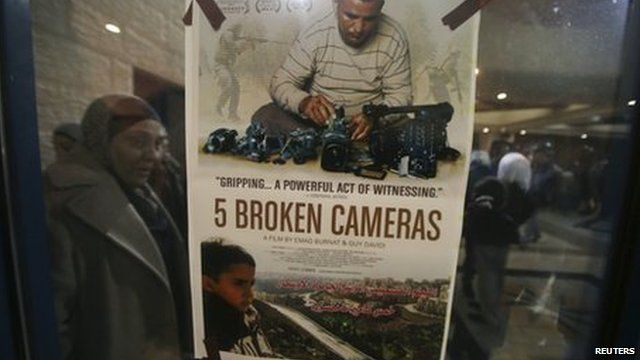 Poster of Five Broken Cameras in Ramallah