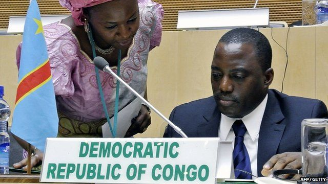 The President of the Democratic Republic of Congo, Joseph Kabila
