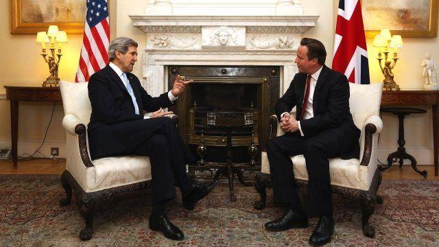 John Kerry and David Cameron