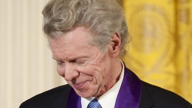 US classical pianist Van Cliburn receives the 2010 National Medal of Arts during a ceremony at the White House in Washington, DC