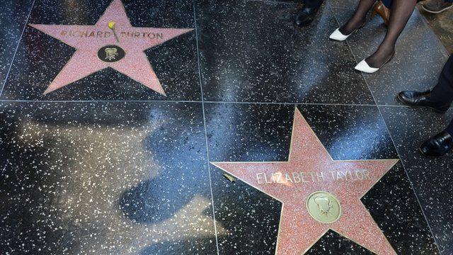 Richard Burton and Elizabeth Taylor's stars