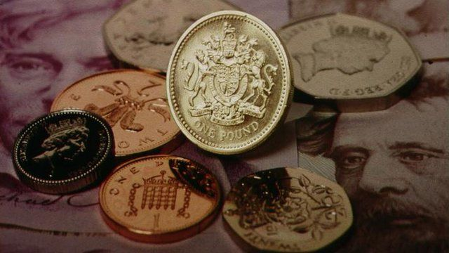 Coins and pound notes