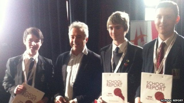 Frank Cottrell Boyce with School Reporters