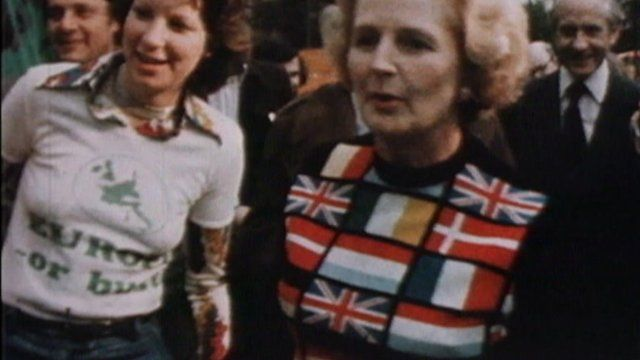 Margaret Thatcher in EEC clothing
