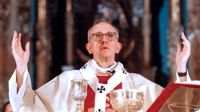 Cardinal Jorge Mario Bergoglio in Buenos Aires Cathedral