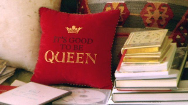 Queen's cushion at Balmoral
